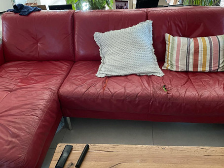 Βάφουμε έναν δερμάτινο καναπέ!