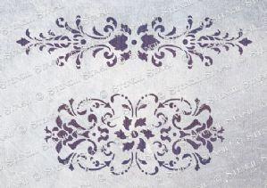 Damask Panels stencil