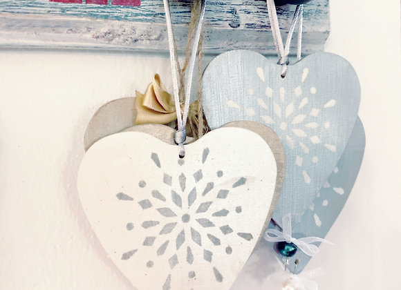 IVORY & SILVER SNOWFLAKE