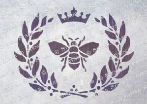 Bee & Crown stencil