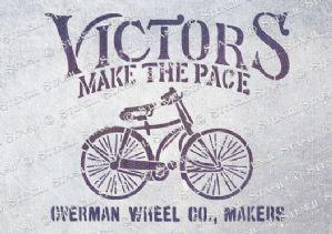 Victors make the pace - stencil