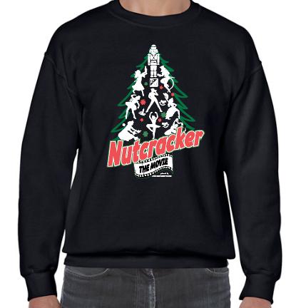 Black Crew Neck Fleece Sweatshirt