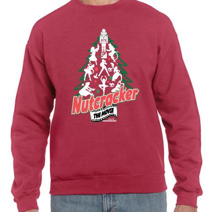Red Crew Neck Fleece Sweatshirt