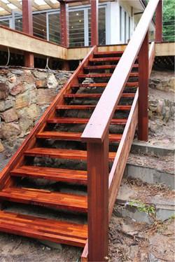 Imported Hardwood - Merbau Stair