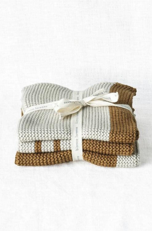 Bronze washcloths - set of 3
