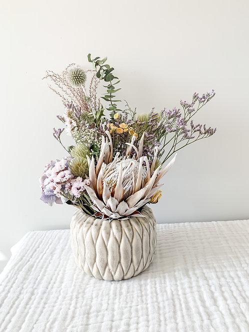 Pastel Protea Pot