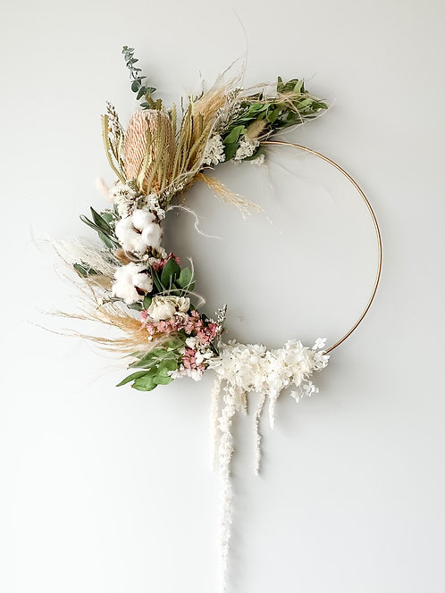 Banksia wreath