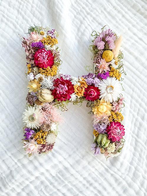 Floral Letter H