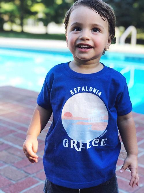 Kefalonia Kids Souvenir Shirt
