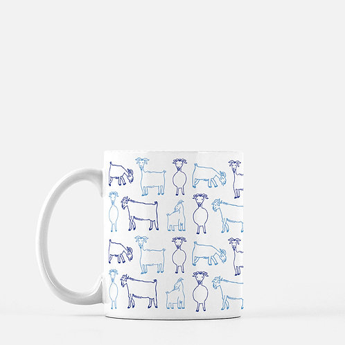 Greek Goats Ceramic Mug