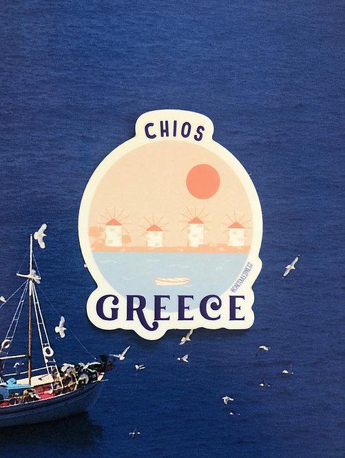 Chios Souvenir Sticker