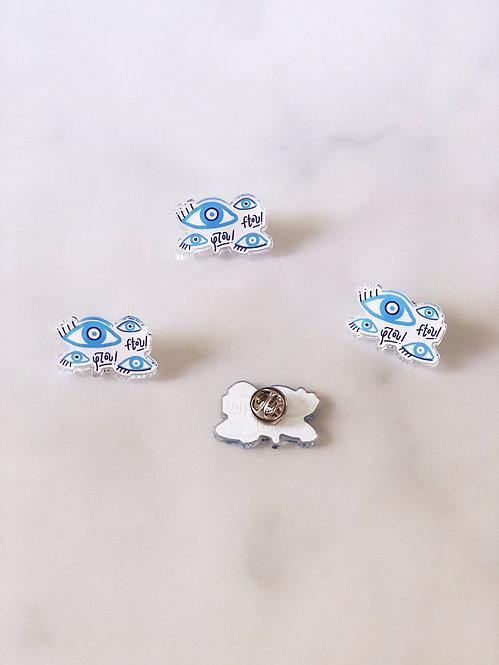 Mati (Evil Eye) Acrylic Pins