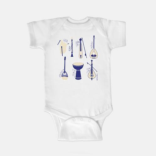 Greek Instruments Baby Onesie
