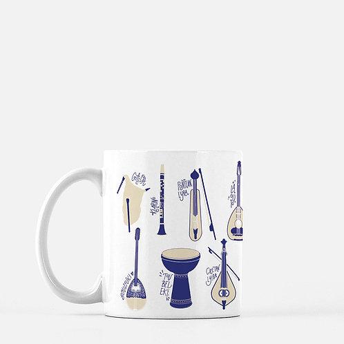Greek Instruments Ceramic Mug