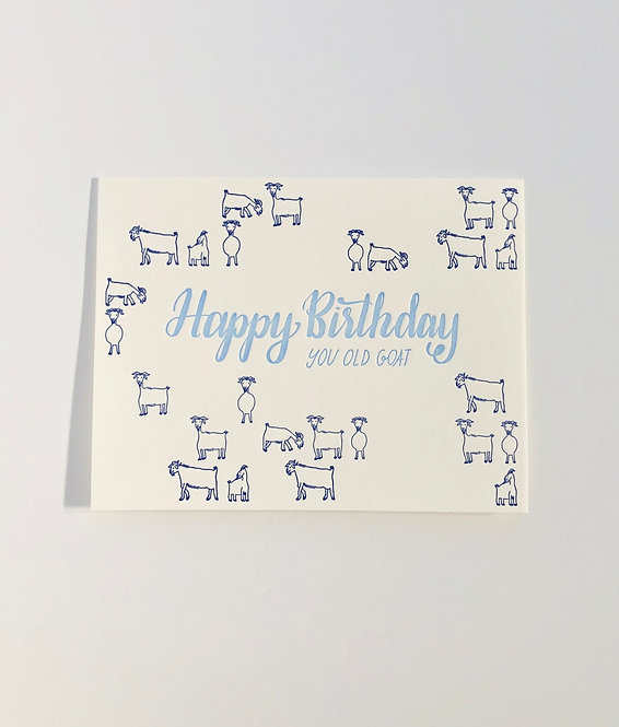 Happy Birthday You Old Goat