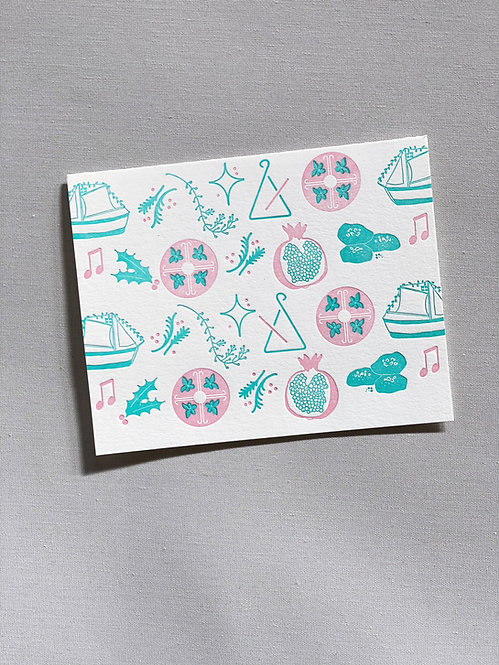 Christmas Pattern - Greeting Card