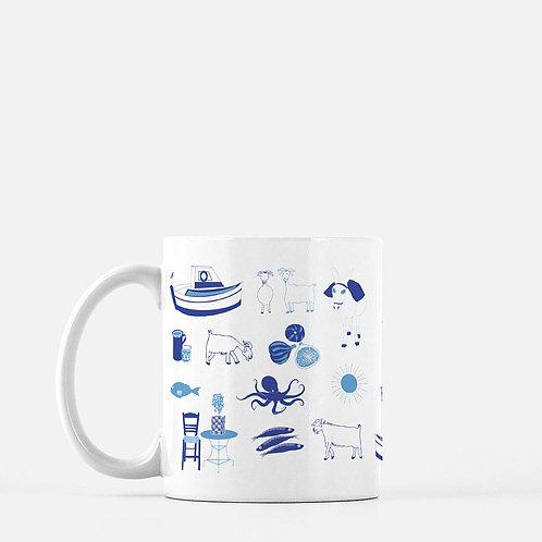 Greek Summer Ceramic Mug