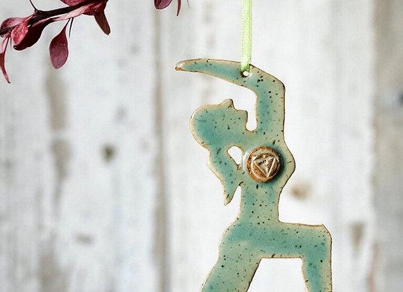 Yoga Cresent Warrior Ornament