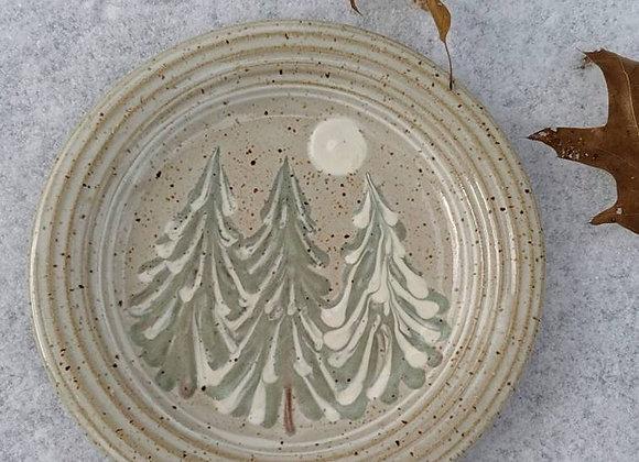 Bread Plate Winter Trees