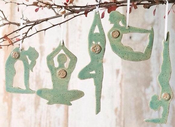 Yoga Ornament Set of Five