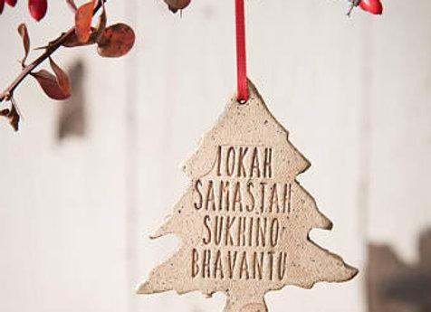 Yoga Ornament Christmas Tree