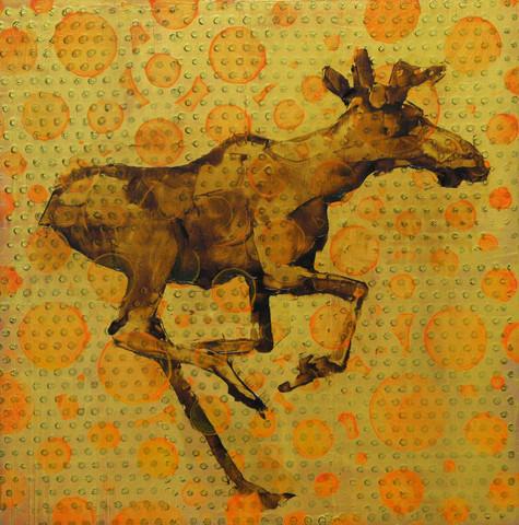Animal Painting #15-1298-Moose