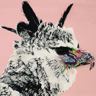 Grady Wallace Spray paint on canvas 24 x 30 in 2017