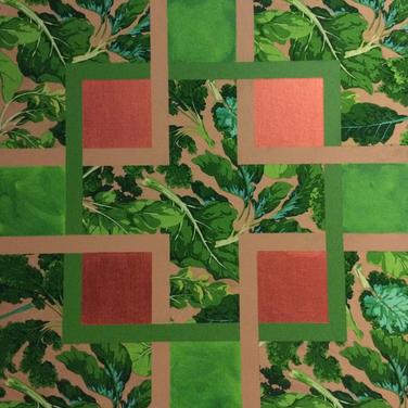 ACFA-0215 Mixed Media on Fabric 24 x 24 in 2015