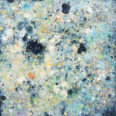 """Keith Chisholm """"Insight: Tide Pool  Composition 1.02"""" 24 x 24 """" MM/B 2017 $2400.00 CAD + GST"""