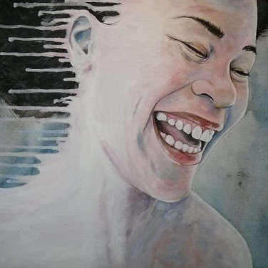 """Ben Nguyen  """"Smile, Lest you Fade Away"""" A/C  16 x 20 in 2013 $550.00 CAD + GST"""