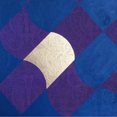 ACFA-0115 Mixed Media on Fabric 24 x 24 in 2015