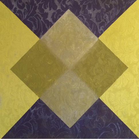 ACFA-0715 Mixed Media on Fabric 24 x 24 in 2015