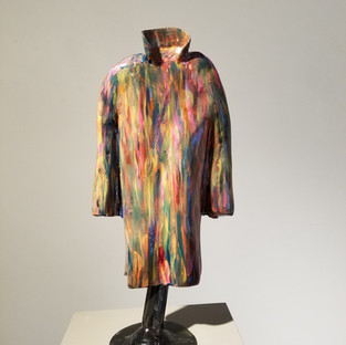 """Al Reynolds """"Coat of Colors"""" Welded Fabricated Steel 19 x 9 x 5 in 2017 $2500.00 CAD + GST"""