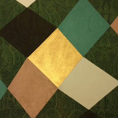 ACFA-0216 Mixed Media on Fabric 24 x 24 in 2016