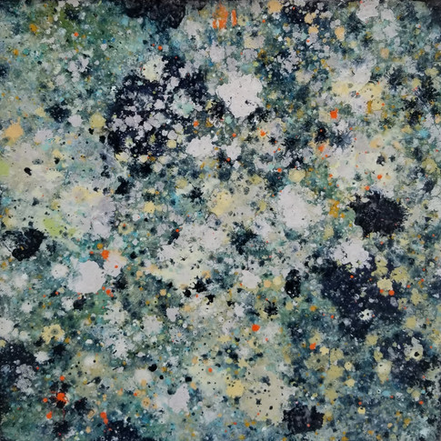 """Keith Chisholm """"Insight: Tide Pool  Composition 1.12"""" 24 x 24 """" MM/B 2017 $2400.00 CAD + GST"""