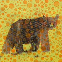 Animal Painting # 015-1263 Orange Bear