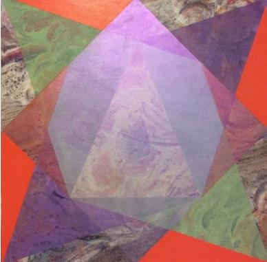 ACFA-0116 Mixed Media on Fabric 24 x 24 in 2016