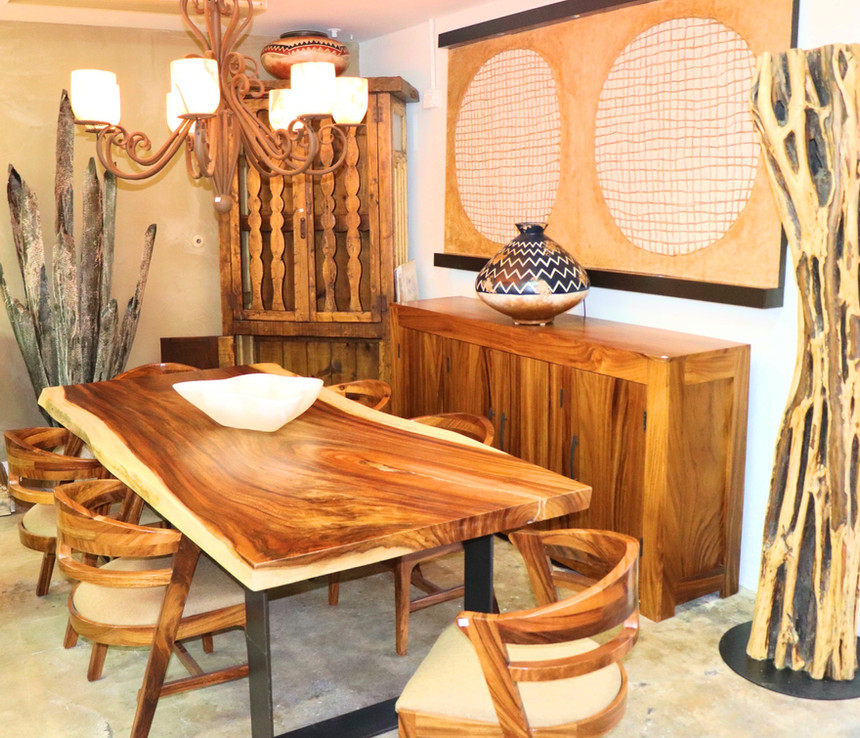 Wood Top Table_ Wood Chairs