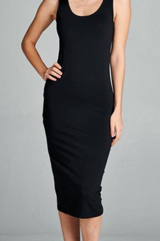 Noir Midi Dress