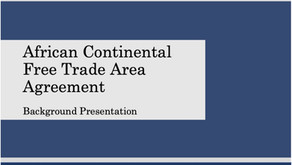 The Africa Continental Free Trade Area Agreement