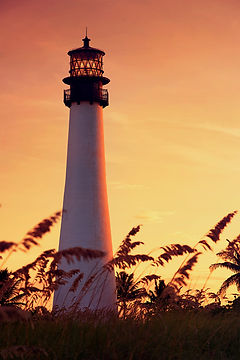 Miami Lighthouse at Sunset