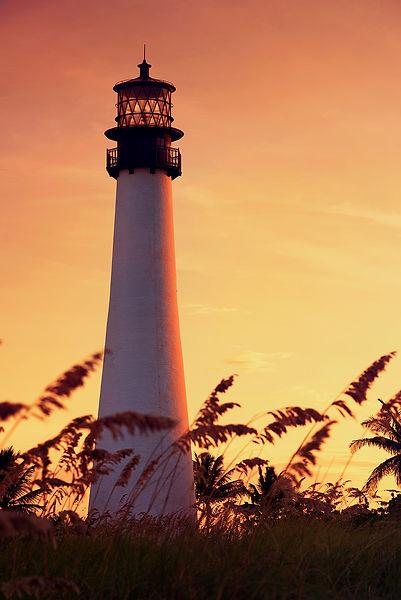 Miami-Leuchtturm am Sonnenuntergang