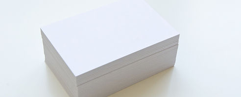 A stack of blank business cards