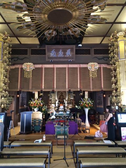 お寺でのコンサートレポート