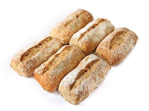 Petit pain bruin afbak 6 st.