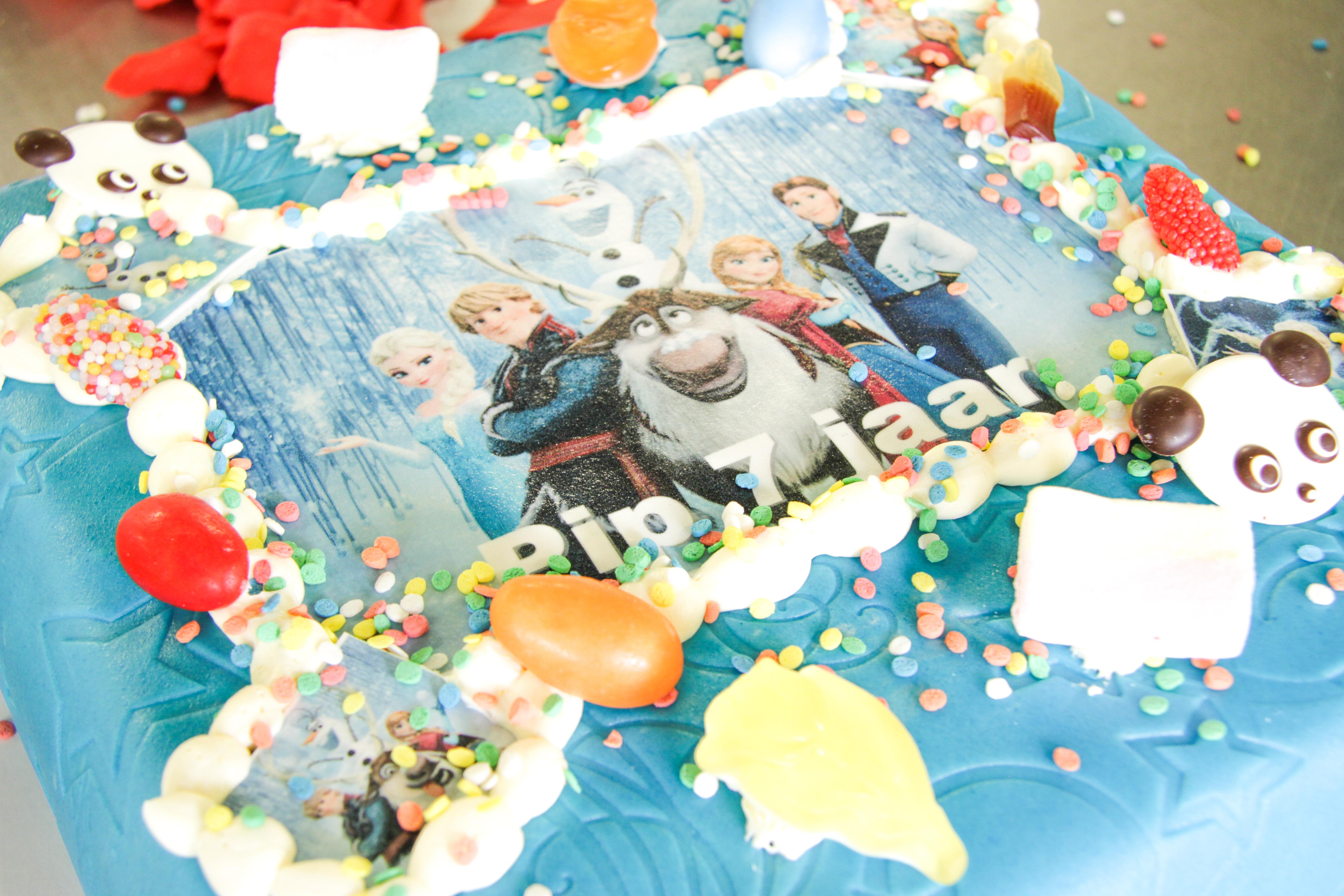 Marspein taart Frozen
