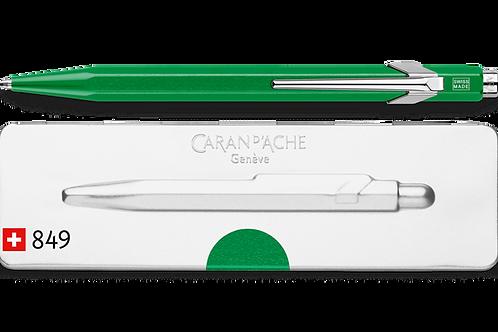 Penna a Sfera 849 POPLINE Verde Metallico con astuccio