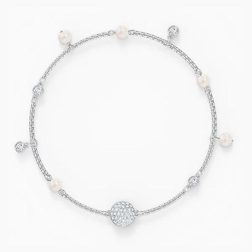 Strand Swarovski Remix Collection Delicate Pearl, bianco, placcato rodio L e M