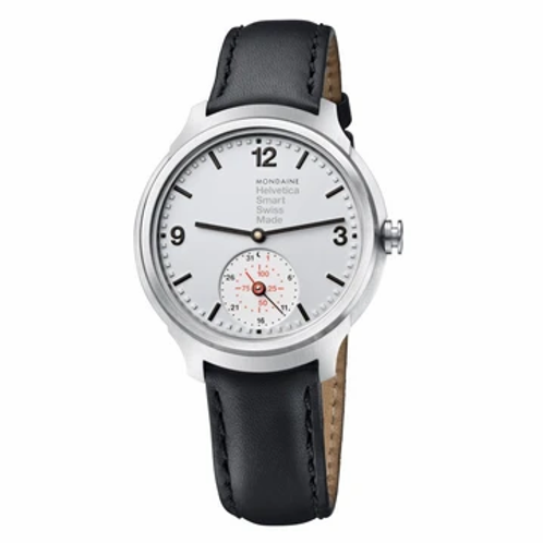 Mondaine Helvetica Smartwatch, 44 mm, black watch