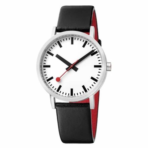 Orologio classico, 36 mm, in pelle nera, A660.30314.16OM Unisex